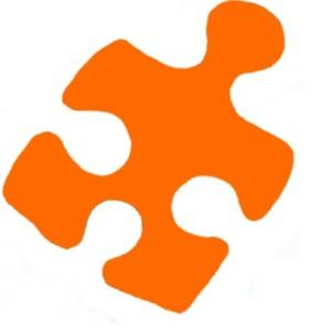 puzzleteil orange rechtsgedreht