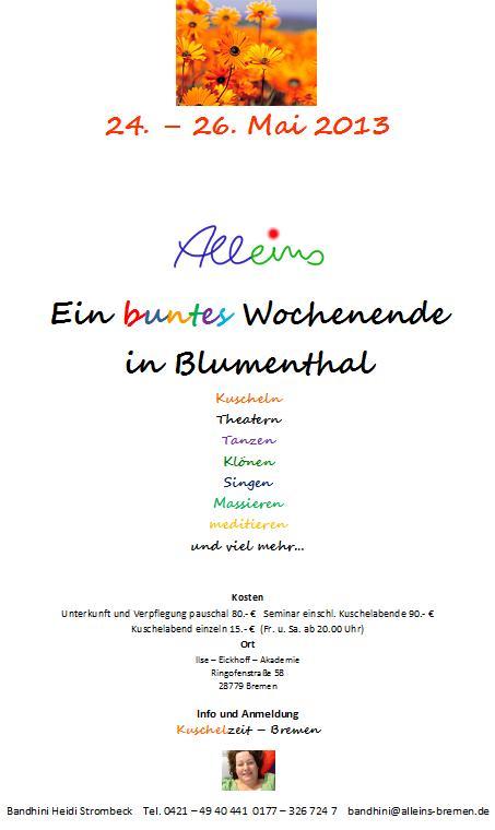 Kuschelweekend 2013 Din a 4