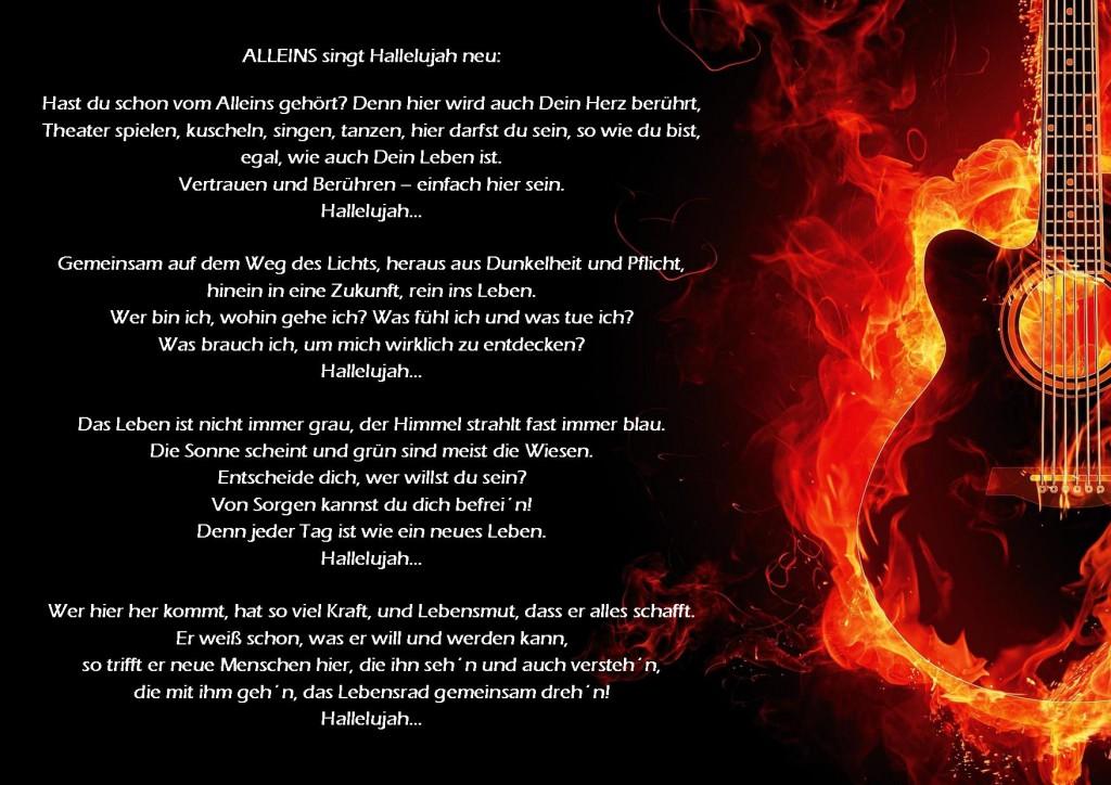Hallelujah Alleins Text